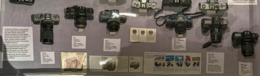 Old Canon Film Cameras Dating From 1970's