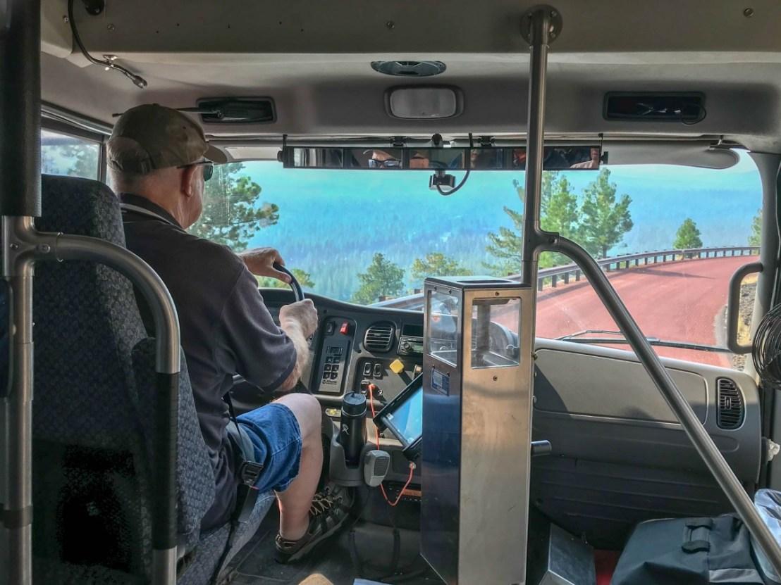Downhill Bus Ride Views