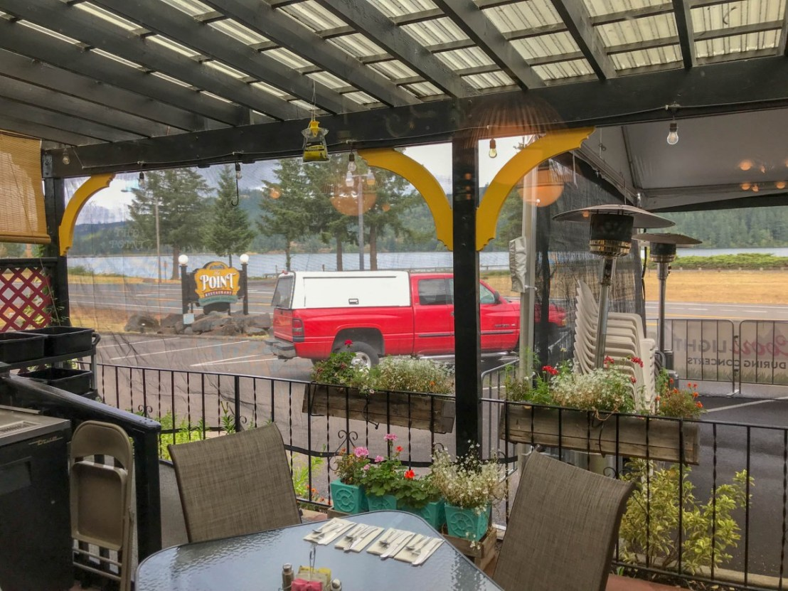 Outside Dining at The Point Restaurant in Sweet Home, Oregon