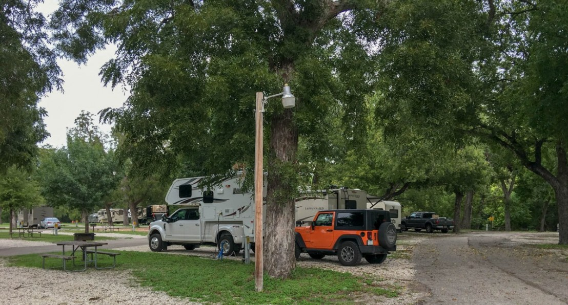 San Antonio KOA Pecan Trees Over Our Campsite