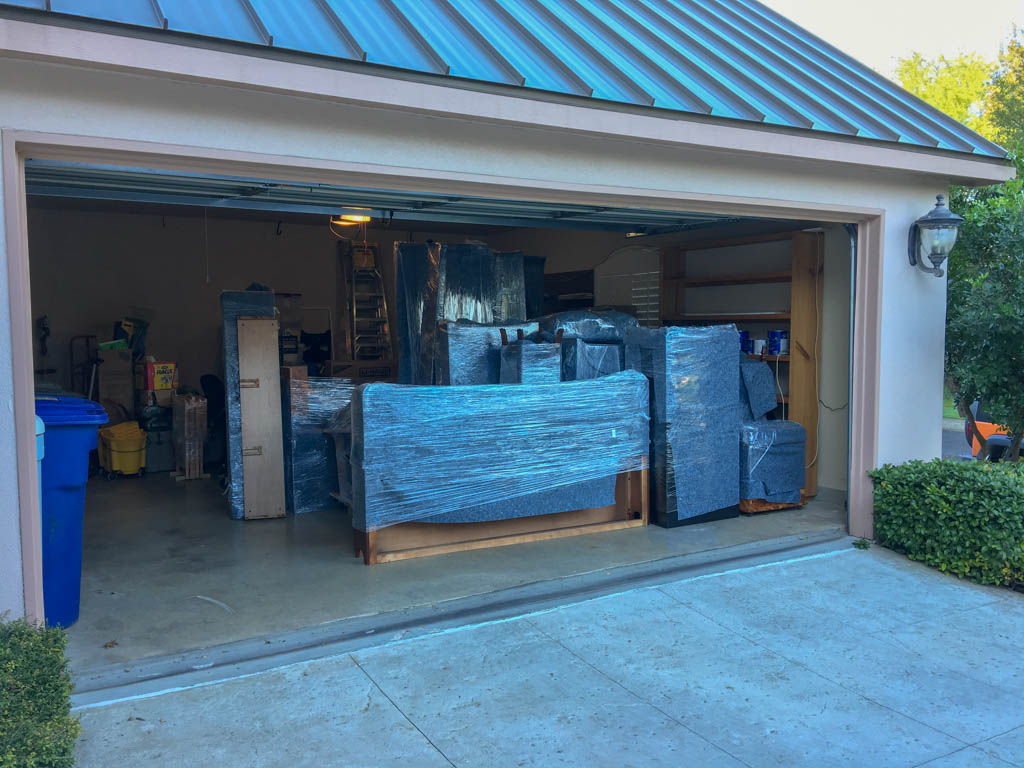 Second Floor Items Moved From Storage To Garage
