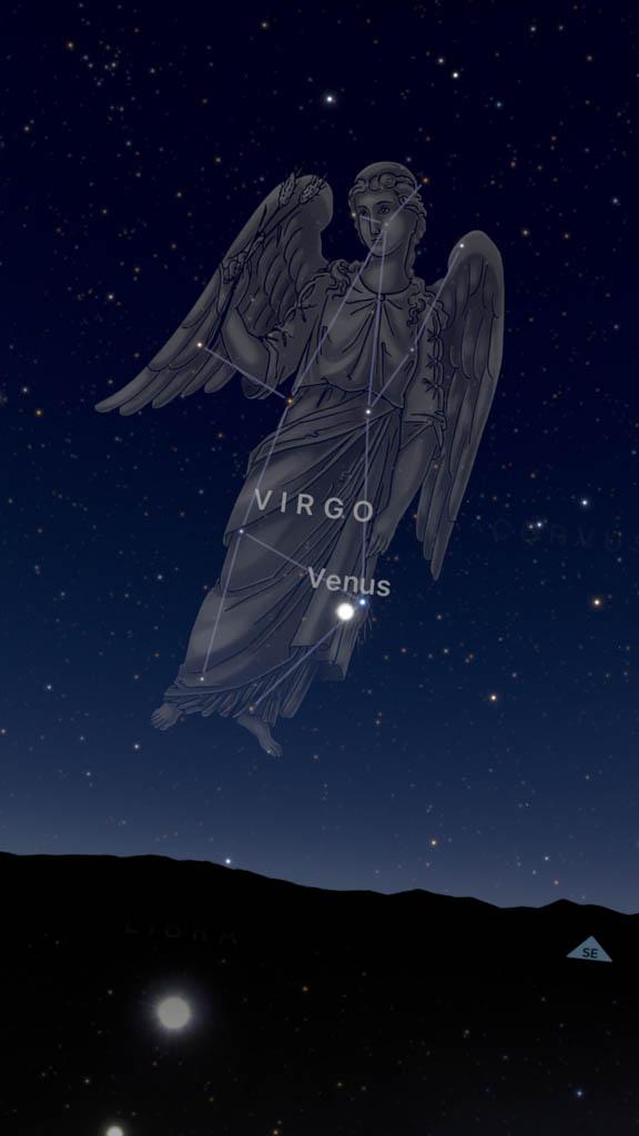Sky Guide App Identifies the Planet Venus