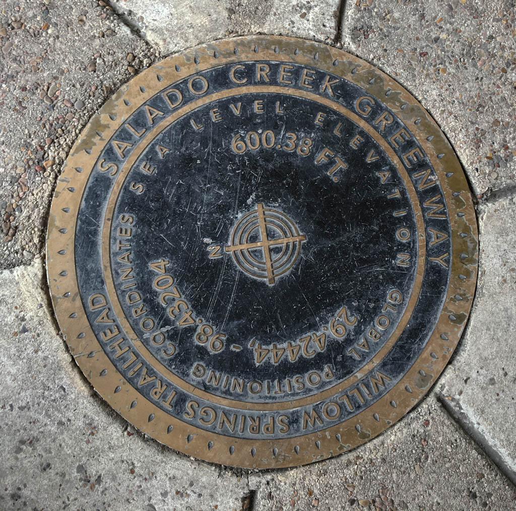 Willow Springs Trailhead Salado Creek Greenway Medallion