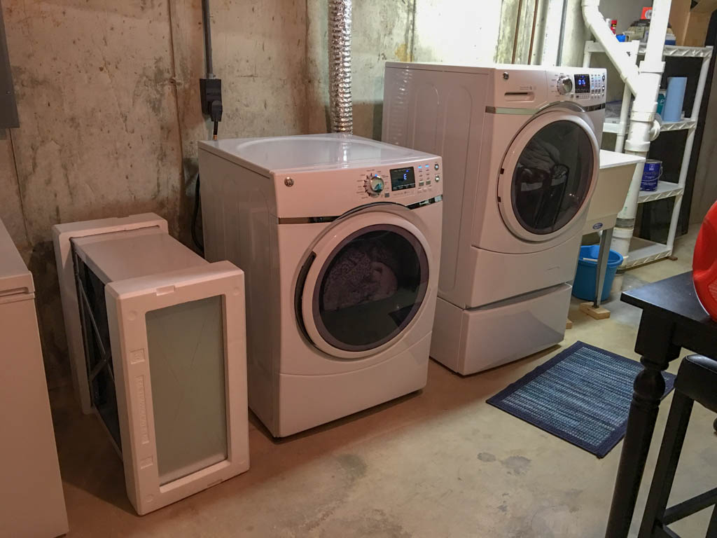 Pedestal and Dryer Awaiting Unification