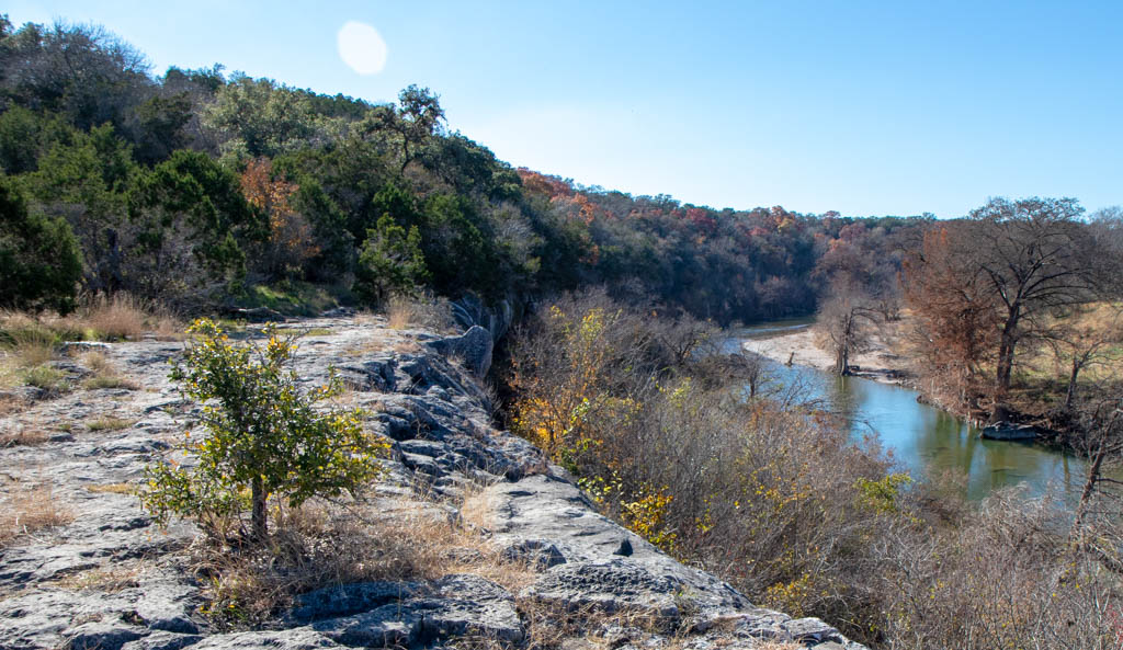 Scenic Overlook From The Bluff Above The Guadalupe River