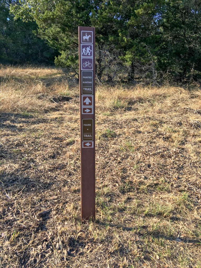 Painted Bunting and Prairie Trail Marker