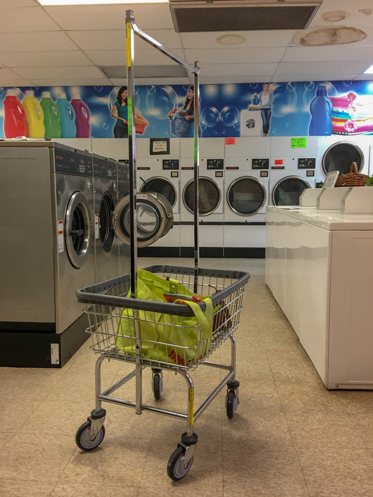 Laundromat Cart And Laundry Supply Bag