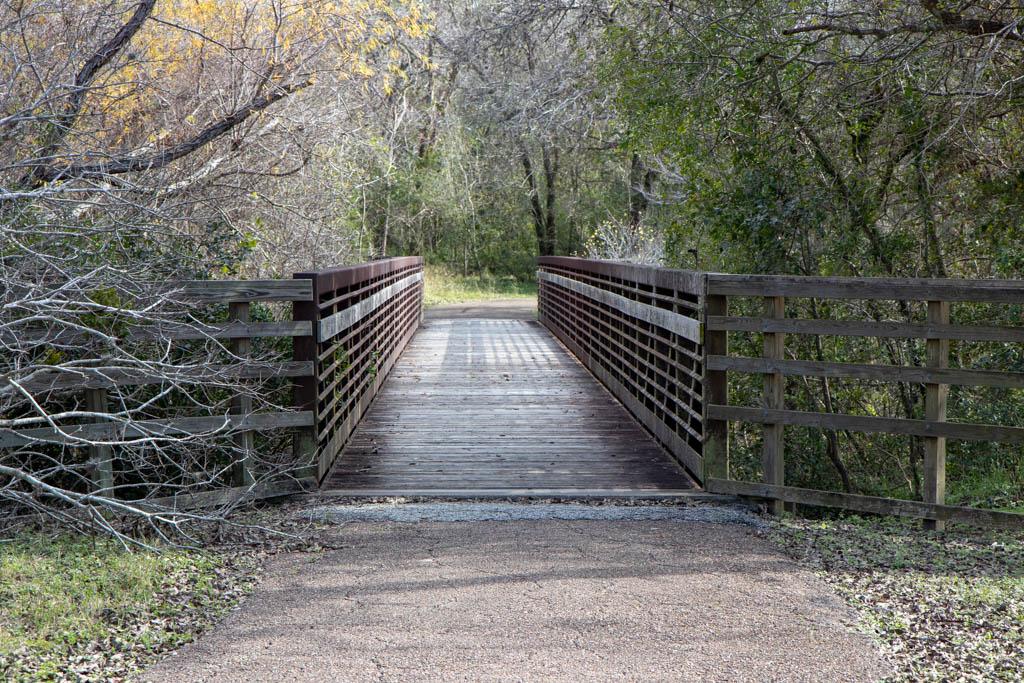 Trail Bridge Crossing Deep Ravine