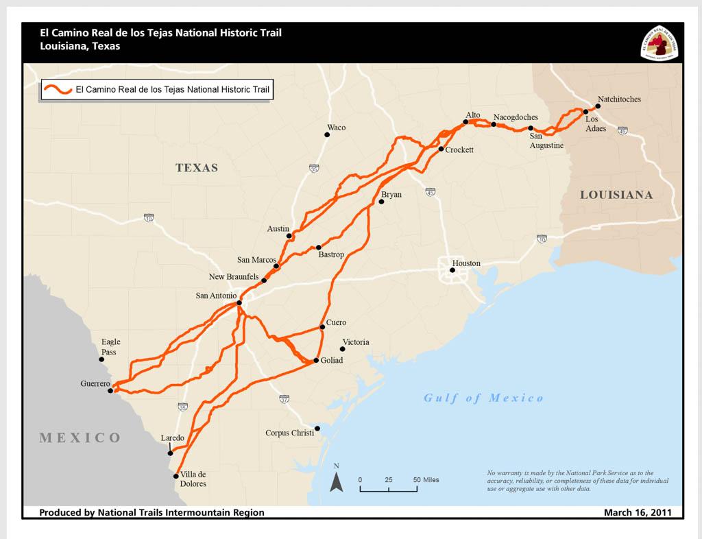El Camino Real de los Tejas National Historic Trail