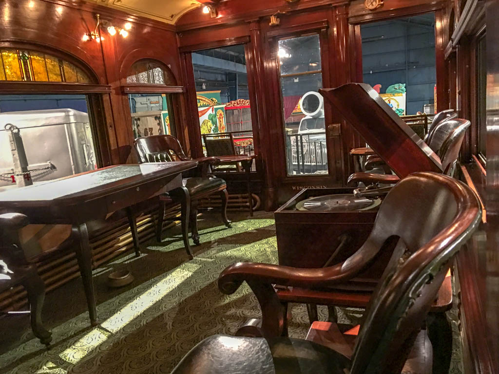 Ringling Private Rail Car Observation Lounge