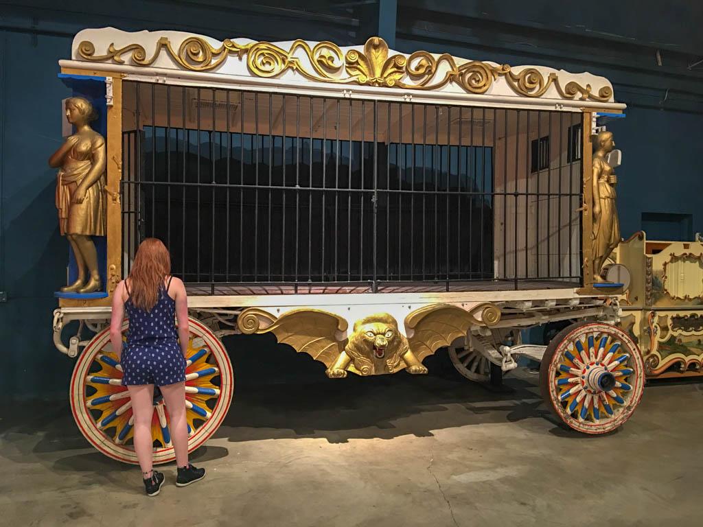 Circus Man Eating Lion Cage