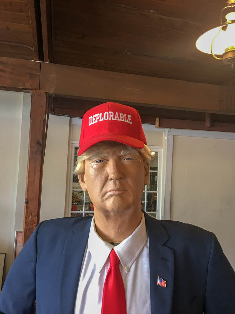 "Donald Trump Mannequin Wearing Red ""Deplorable"" Hat"