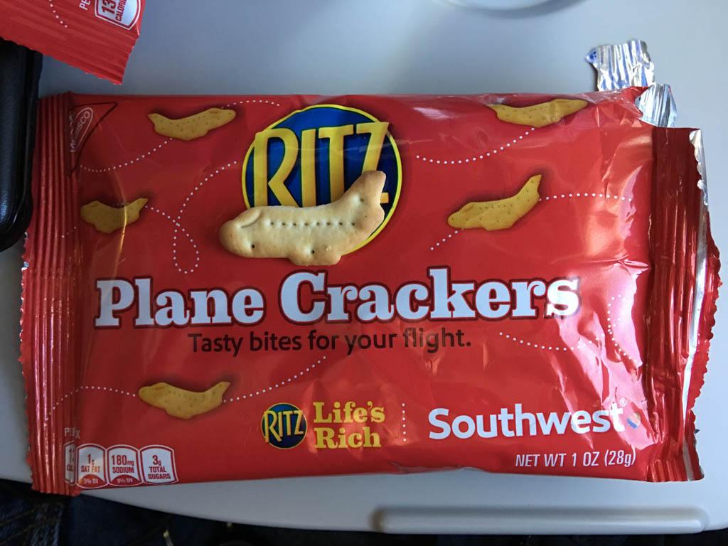 Southwest Airlines Serving Ritz Plane Crackers