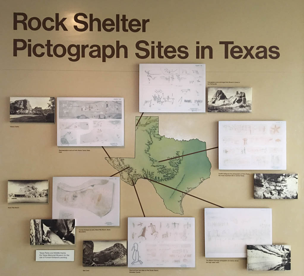 Rock Shelter Pictograph Sites In Texas