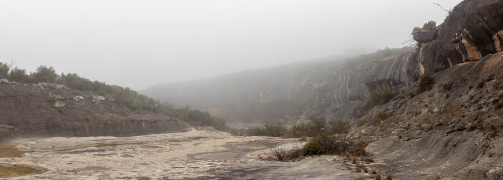 Looking Down Seminole Canyon In The Fog