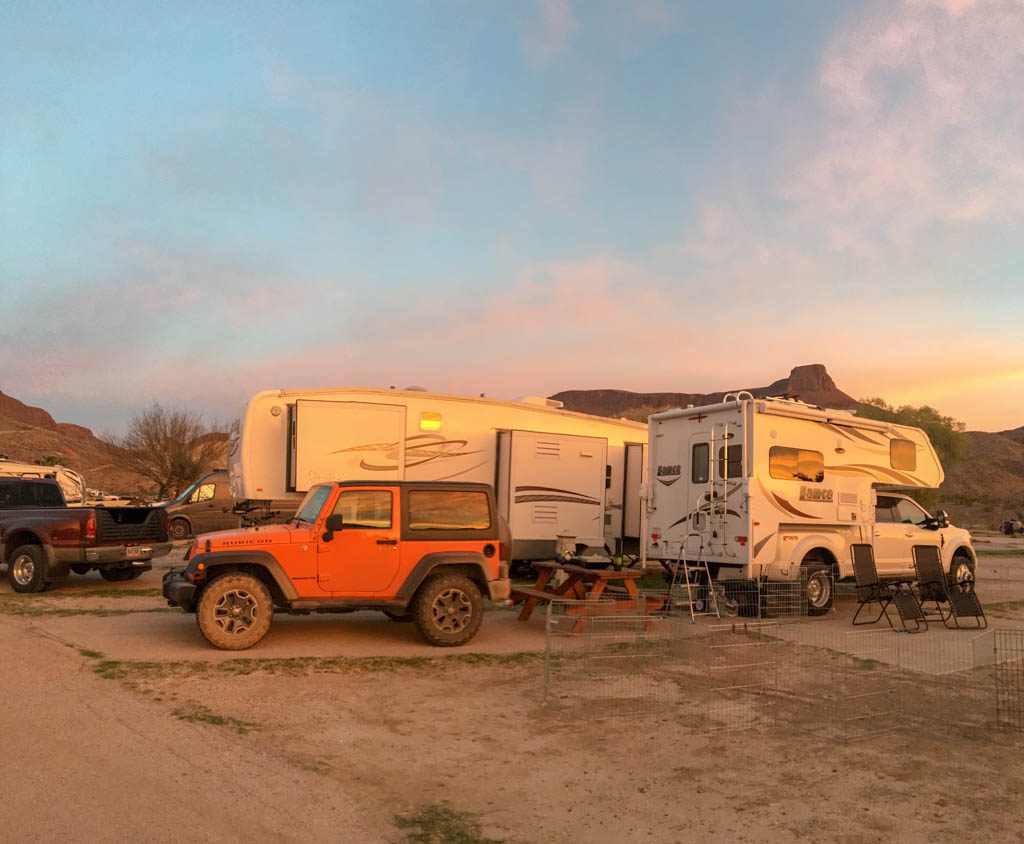 Campsite at Maverick Ranch RV Park