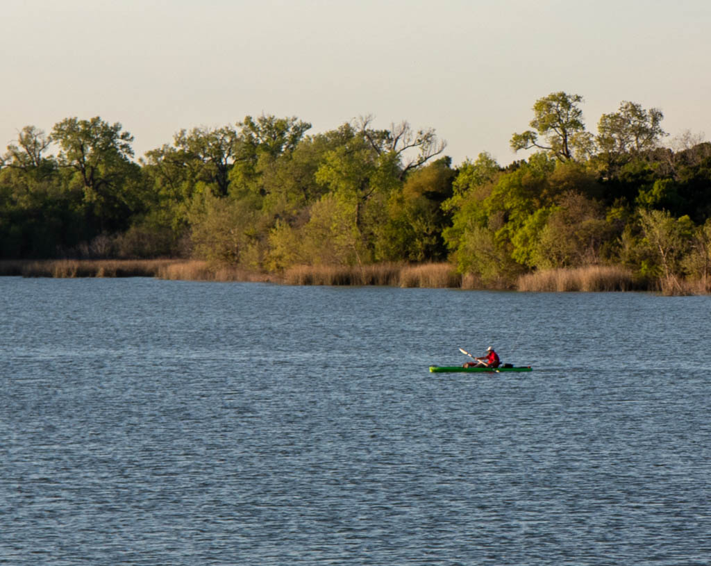 Cedar Lake Kayaker