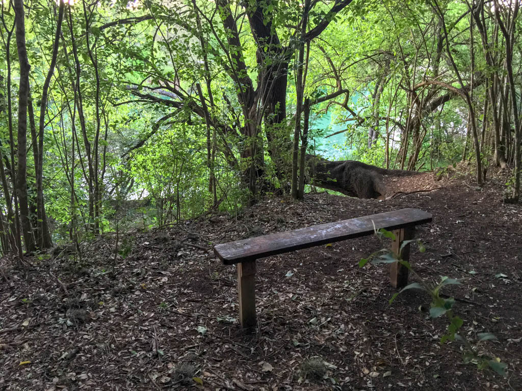 Caswell Nature Trail Bench With 'River View'