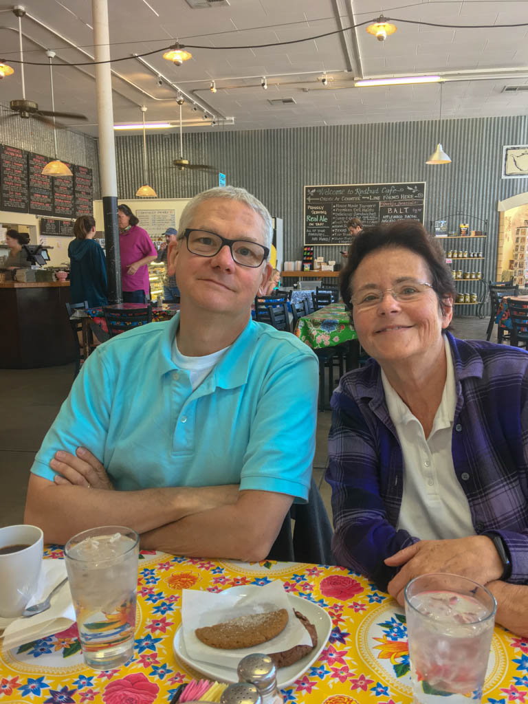 Linda And Larry At The Redbud Cafe In Blanco