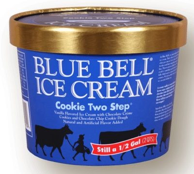Blue Bell Ice Cream Cookie Two Step