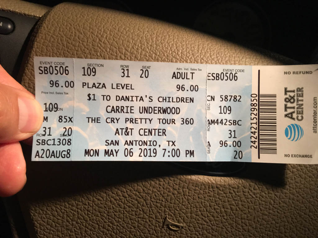 Carrie Underwood - The Cry Pretty Tour Ticket