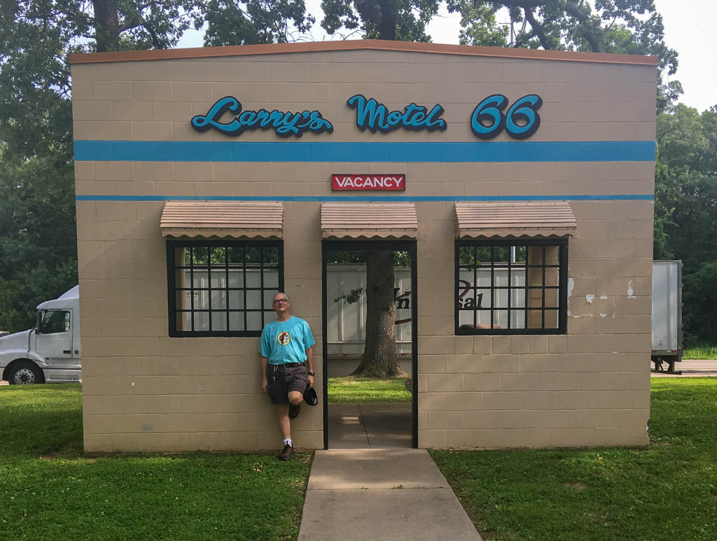 Missouri Interstate 44 Rest Stop Commemorating Larry's Motel on Route 66
