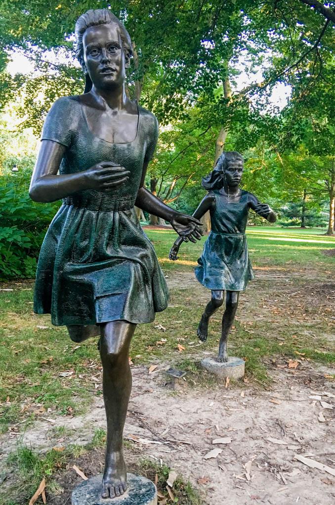 Sculpture - Two Girls Running