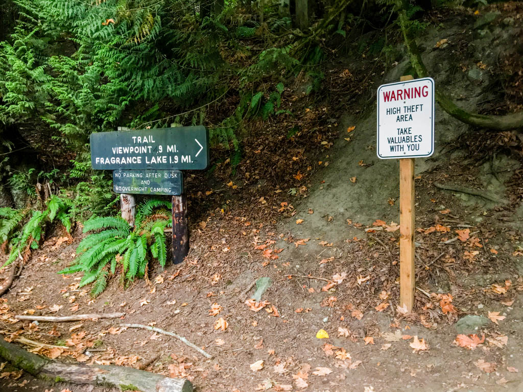 Chuckanut Drive Parking Area To Interurban Trail Signage