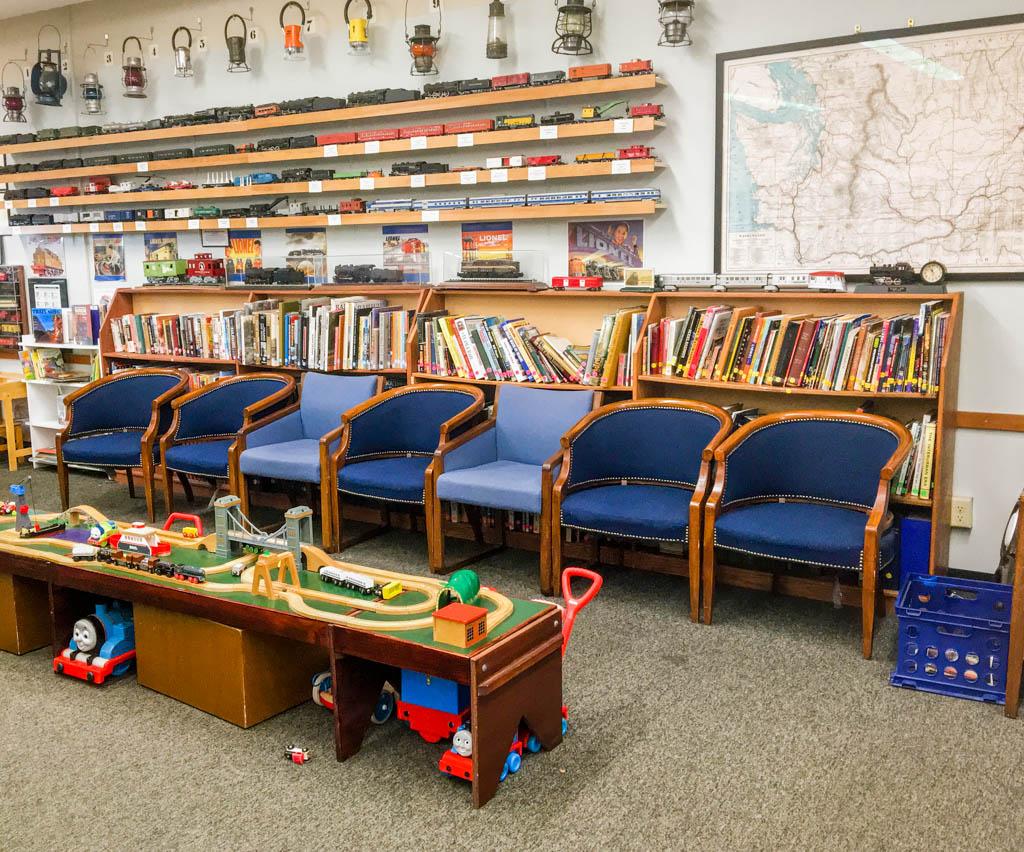 Bookshelves Full Of Train Related Reference Books