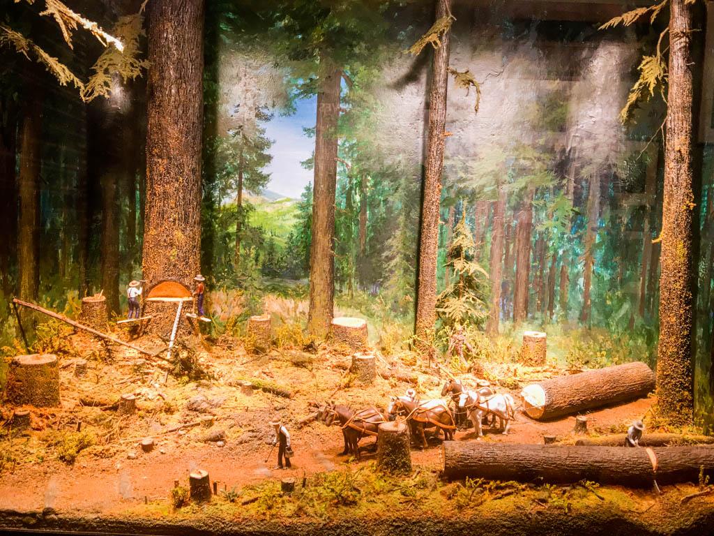 Diorama Showing Logging Operation