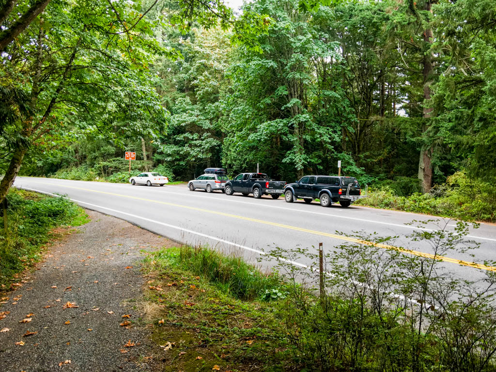 Parked Cars At Mysterious Trailhead