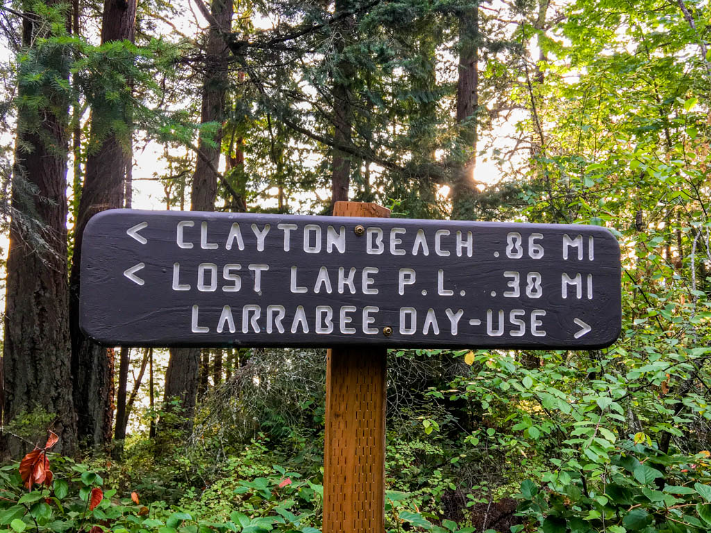 Clayton Beach Sign