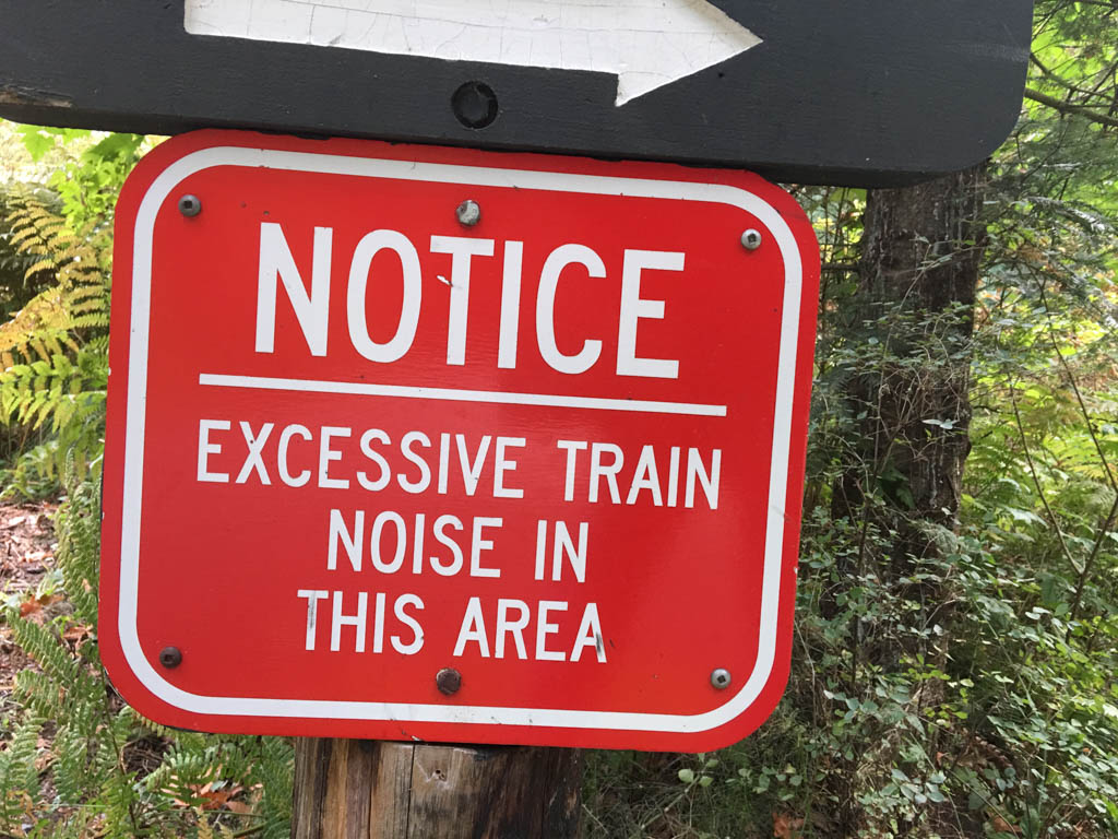Sign To Give Notice Of Excessive Train Noise In The Area