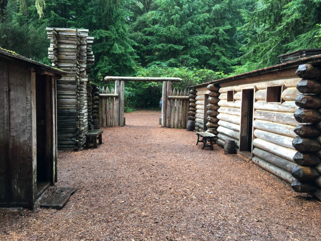 Fort Clatsop Looking Through The Courtyard From Back Gate