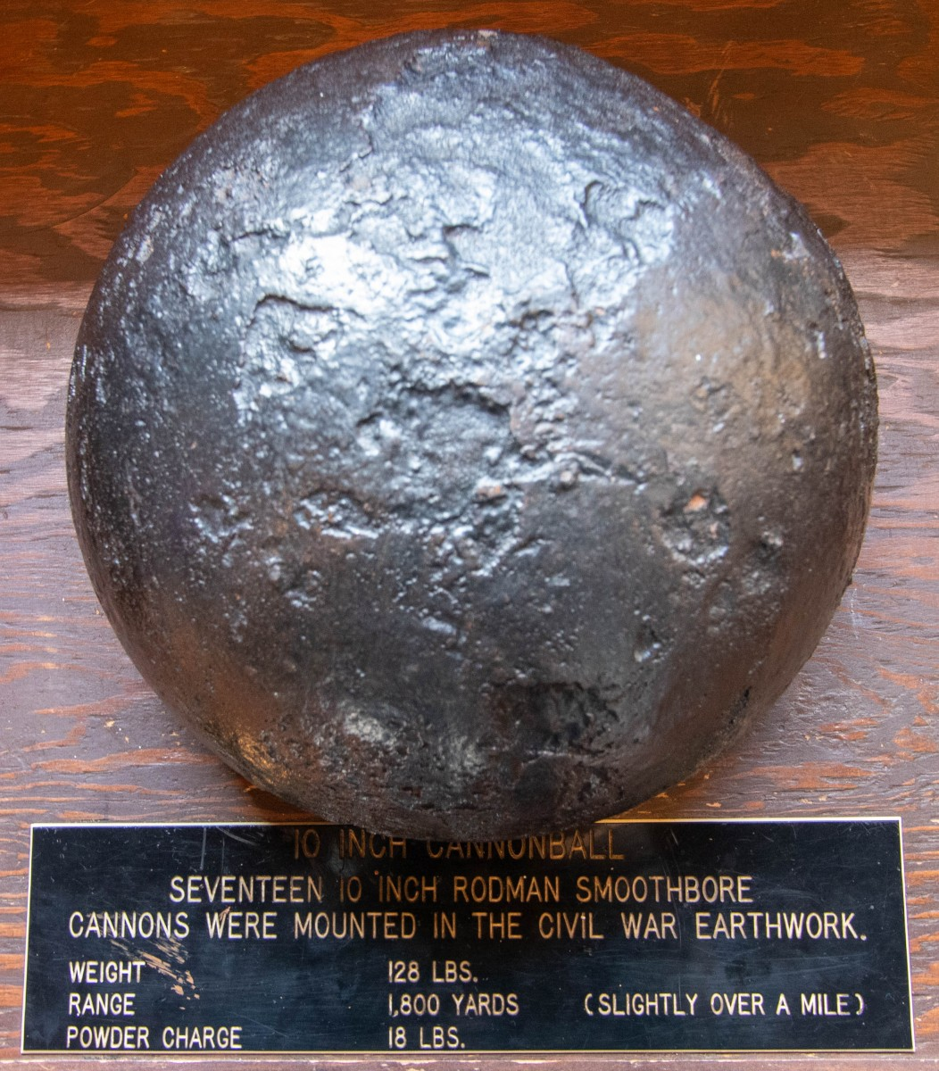 Cannonball From Civil War Era Gun Battery