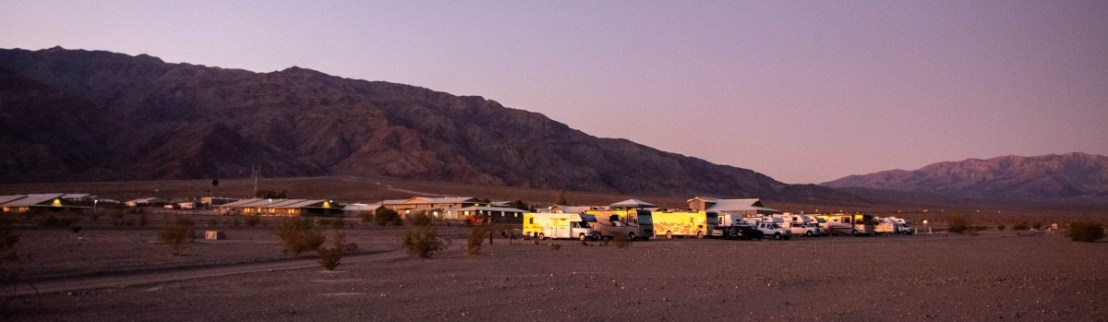 Sunrise Over Resort and Campground