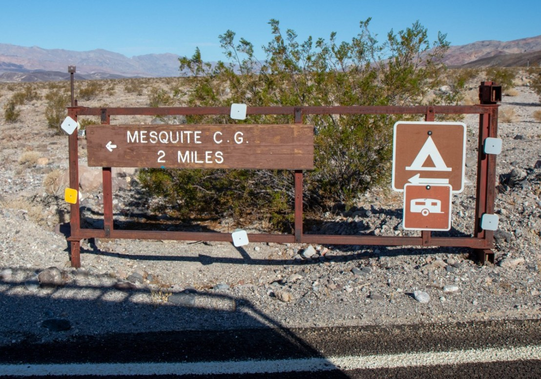 Mesquite Spring NPS Campground Turn