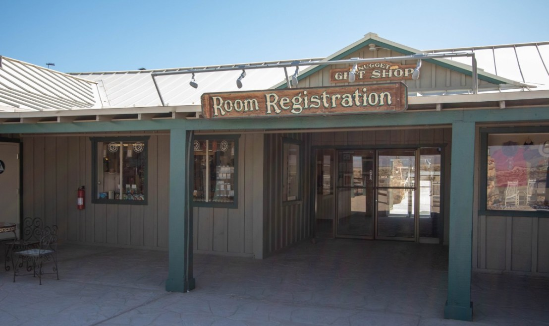 Hotel and RV Park Registration Door