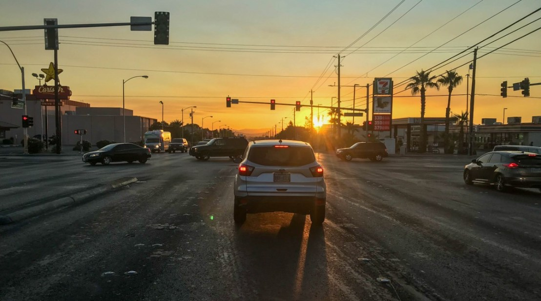 Early Morning Las Vegas Traffic