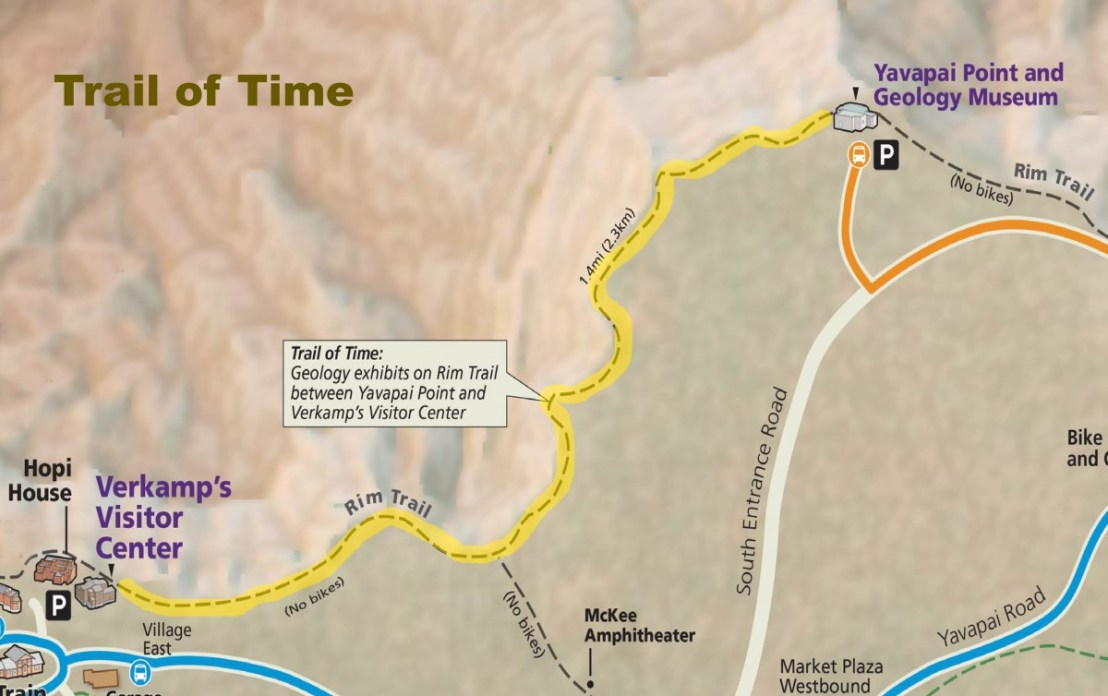 Grand Canyon National Park Trail Of Time Corresponding To The Formation Of The Grand Canyon