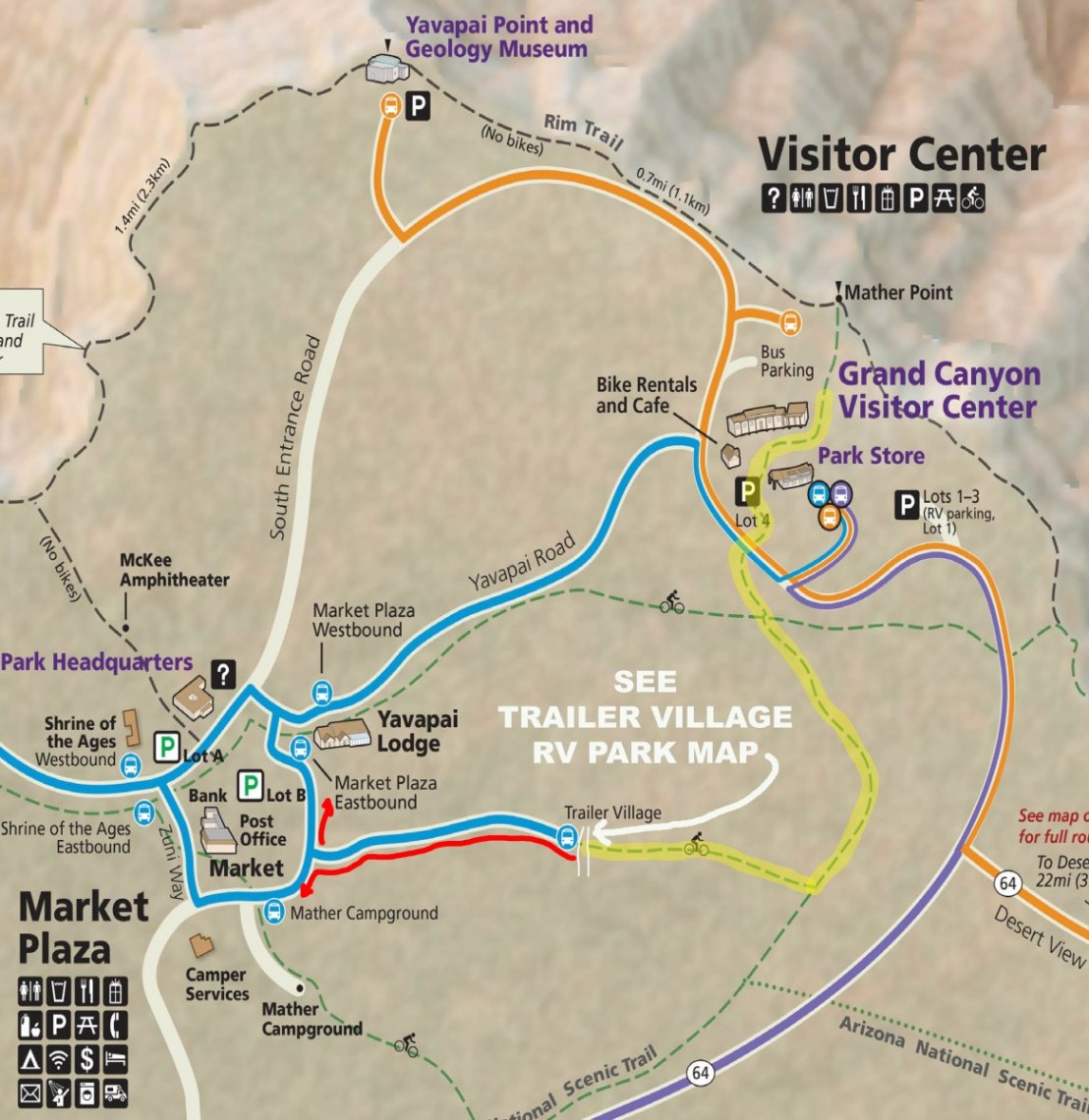 National Park Service Map of Trailer Village RV Park Area