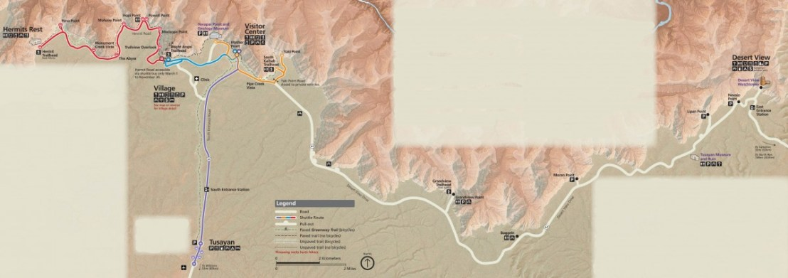 Grand Canyon National Park NPS Map