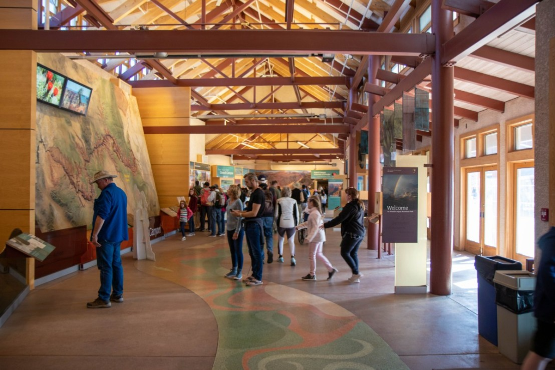 Grand Canyon National Park South Rim Visitor Center 3-D Canyon Map Display