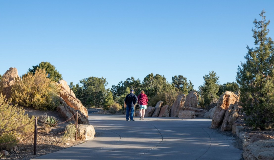 Wide Paved Trail To Canyon Rim