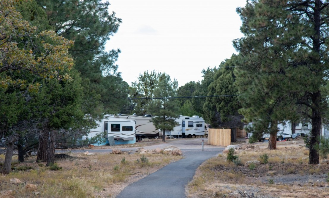 Trailer Village RV Park P Street As Seen From Trail