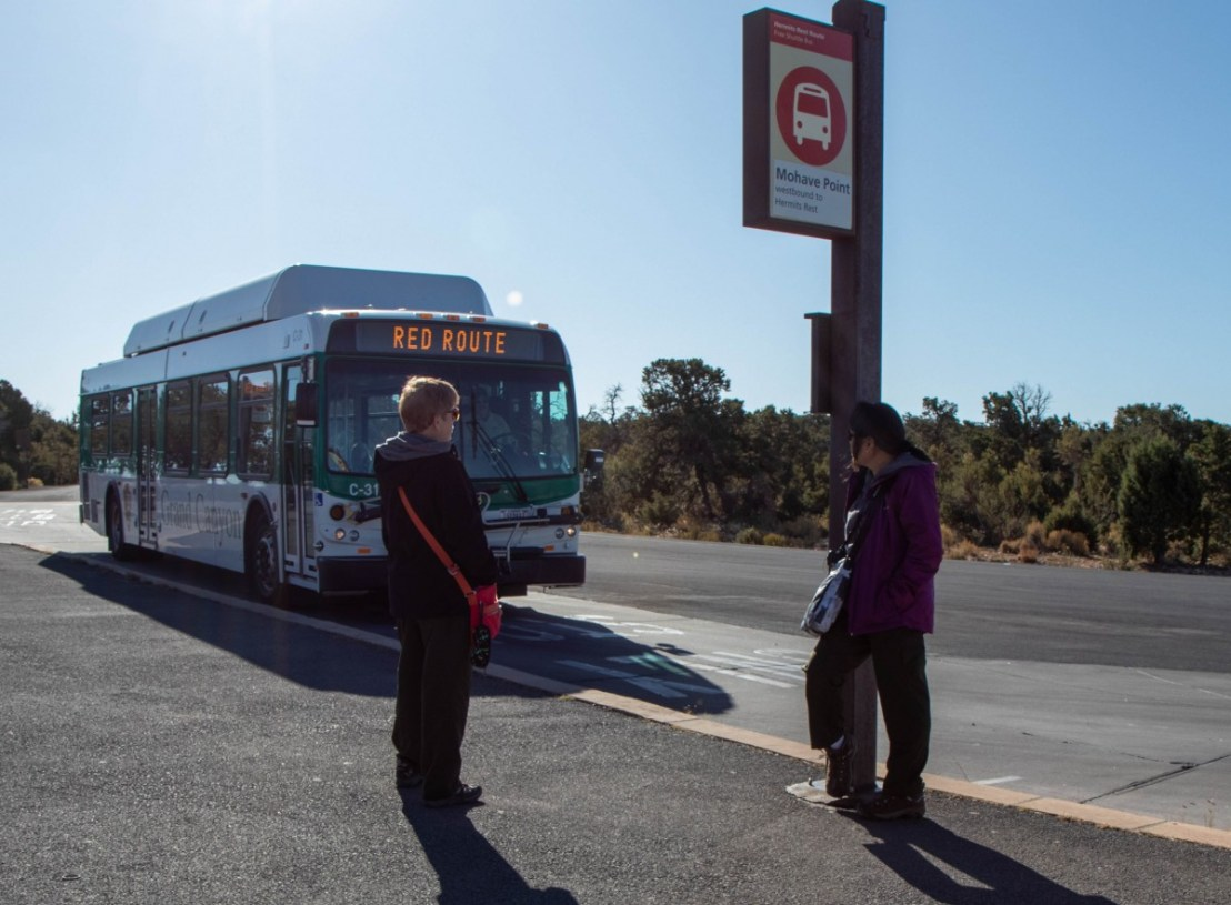 Mohave Point Bus Stop
