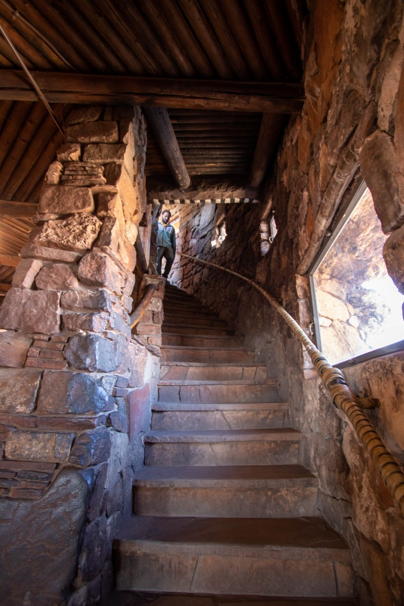 Desert View Watchtower Stairs From First To Second Floor