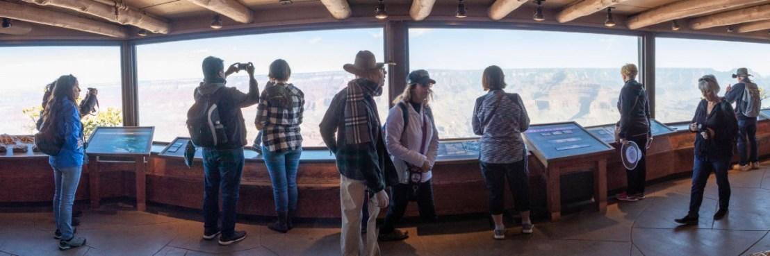 Grand Canyon National Park Yavapai Geology Museum Windows