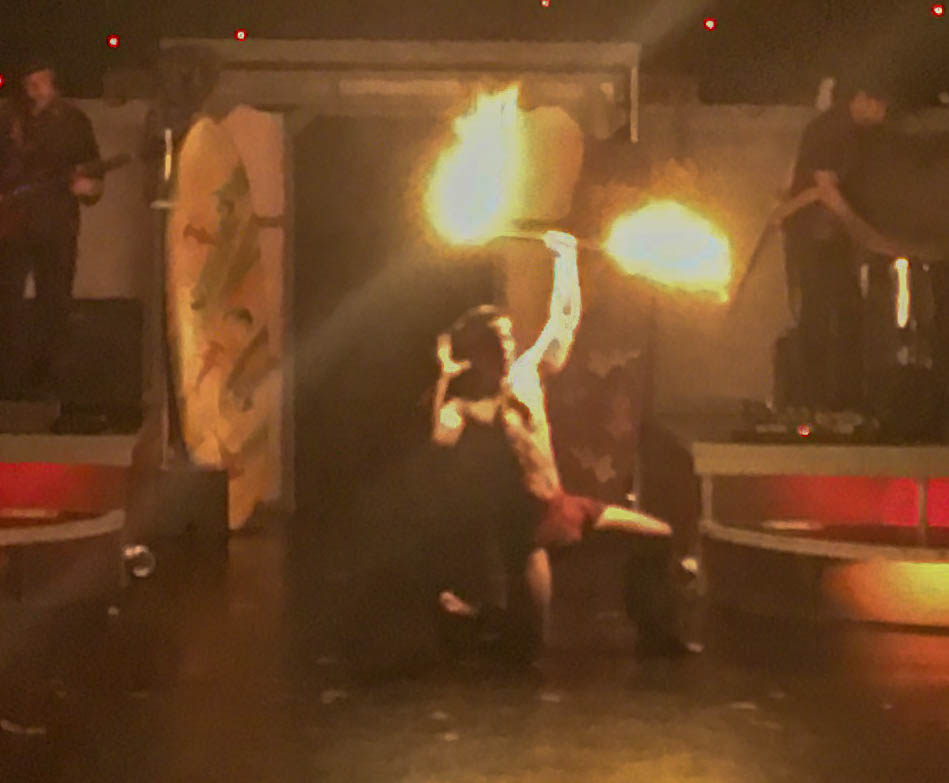 Fire Dancer On Stage