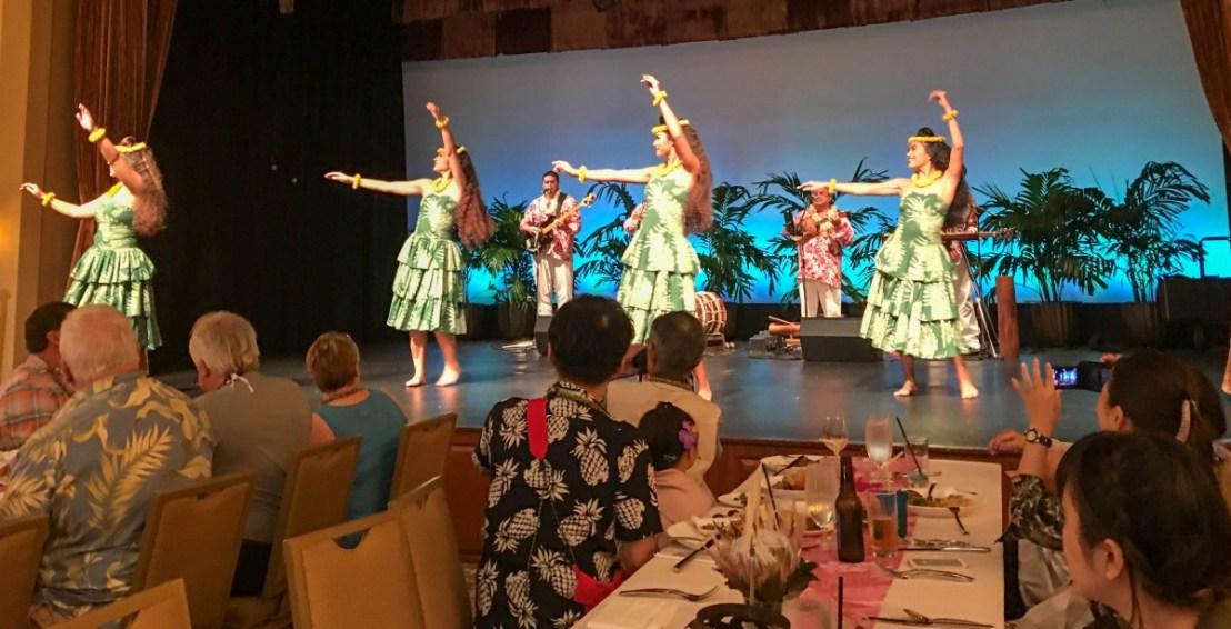 Hula Dancers At Luau
